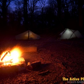 The Making Of A Camp Fire & Tent Shot