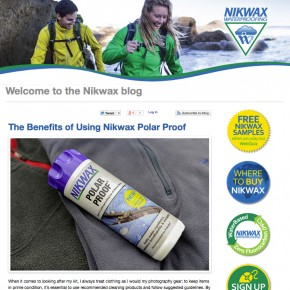 Nikwax Blog & Newsletter Feature – Part 1