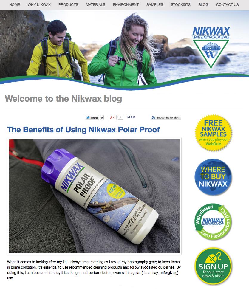 Nikwax Blog & Newsletter Feature – Part 1