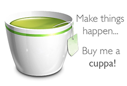 Make things happen... Buy me a cuppa!