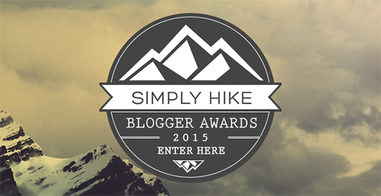 Simply Hike Blogger Awards 2015