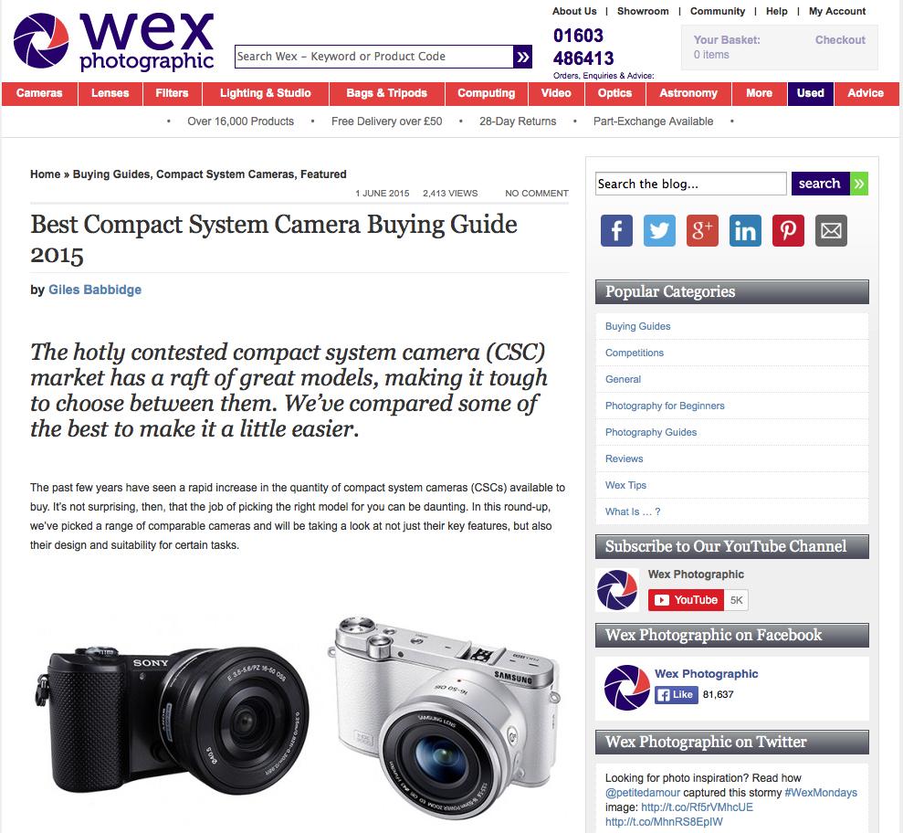 Tear sheet_Wex Blog_CSC Buyers Guide, 01.06.15