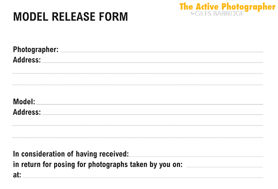 Episode  The Photography Model Release Form  The Active